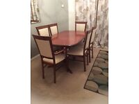 Morris of Glasgow dining table & six chairs