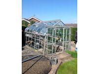 12x8 foot aluminium greenhouse excellent condition