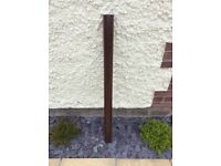 Brown Downpipe 1.3 metre x 68mm - New - Surplus Length.