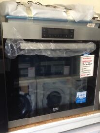 Beko single multifunction self cleaning oven. £240 RRP £429. New/graded 12 month Gtee