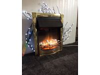 Fire, Brass Dimplex Horton Electric Fire. With manual control.