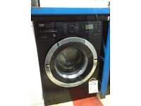 Beko 10kg 1400spin black washing machine. New/graded 12 month Gtee