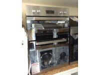 Beko built in double fan oven. 90cm £240 new/graded 12 month Gtee