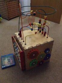 Children's activity cube toy