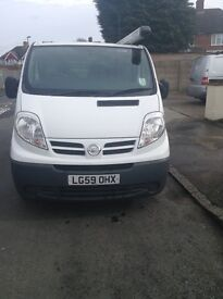 Nissan Primastar, SWB, one owner, ply lined, service history, no vat, company car forces sale