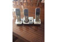 Panasonic triple digital cordless answering system