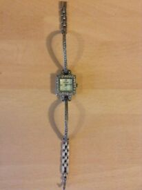 RARE Jean Pierre, solid silver and diamond watch