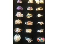 Very pretty dress rings , various styles mainly silver bling !