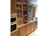 Solid limed oak fitted kitchen