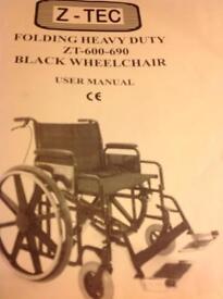 Heavy duty wheelchairfor sale