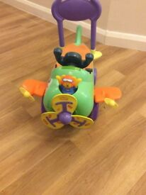 Child's ride-on toy aeroplane