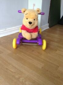 Winnie the Pooh sit on Rider. A soft sit on rider for any child who can walk.
