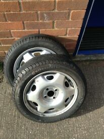 185/55/15 tyres x2. One brand new other nearly new £60 Ono