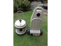 Aquaroll 40lts with handle and wastemaster
