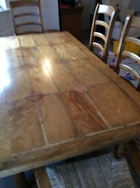 Flagstone Dining Table and chairs