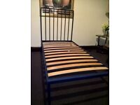 Single bed iron frame very durable ( free delivery see description)