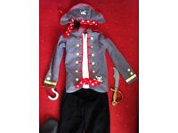 Kids pirate fancy dress size 8-10