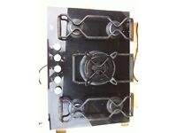 AEG 5 ring gas hob burner with Wok burner in the centre.