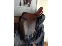 Brown leather pony saddle