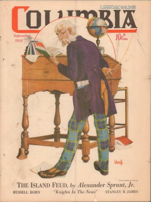 COLUMBIA MAGAZINE September 1935 Luberoff Cover Knights of Columbus