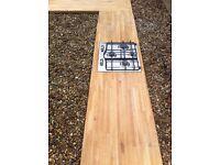 Solid wooden kitchen work tops