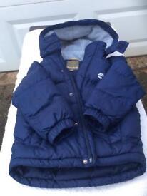 Boys Timberland blue puffer jacket