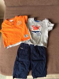 Shorts and t-shirts 6-9 months