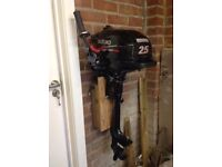 Suzuki 2.5 HP 4 stroke outboard motor. Recently overhauled by local agent. Price £495.00