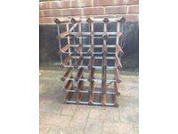 Wine rack, 24 bottle wood and metal, unused.