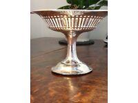 solid silver antique Tazza 1908