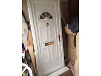 Upvc door with frame, in ex, cond could deliver
