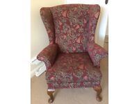 Parker Knoll Queen Anne style armchair