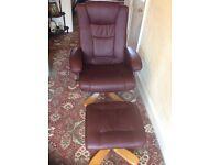 Multifunction massage heat chair and stool