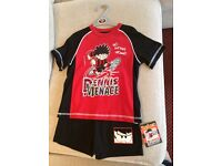 Boys age 4-5 Dennis the Menace short pyjamas collect Sprowston or meet at Riverside