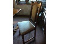 Old charm solid English oak,Dining room chairs
