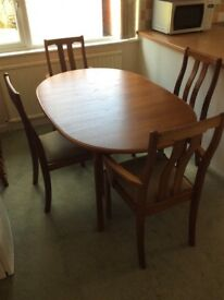 Teak Dining Room Table and Chairs - Excellent Condition