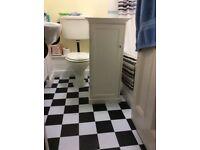 White bathroom unit