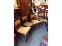 4x Victorian dining chairs