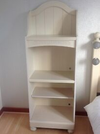 Girls cream 'country' style bookcase/ shelving unit and matching bedside drawers.