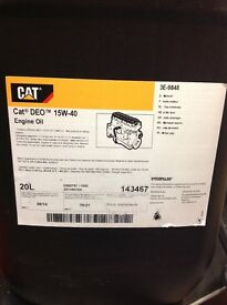 2 x 20lts. CAT DEO 15w-40 Engine Oil