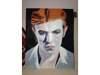 David Bowie hand painted oil on canvas - ideal Christmas present