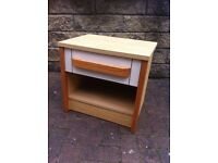 unusual 70s style single drawer unit
