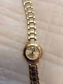 Ladies NY London gold watch