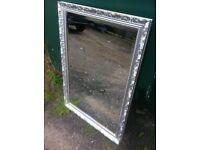 Classy chic over mantle beveled edge ornate framed mirror