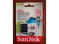 Sandisk Ultra micro SD card 16GB