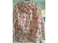 Top shop floral rain Mac size uk 10