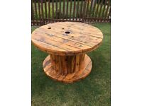Industrial Cable Reel Garden Table