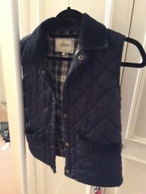 Blue quilted country style body warmer