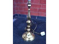 Wonderful Vintage Candlestick Style Brass Lamp