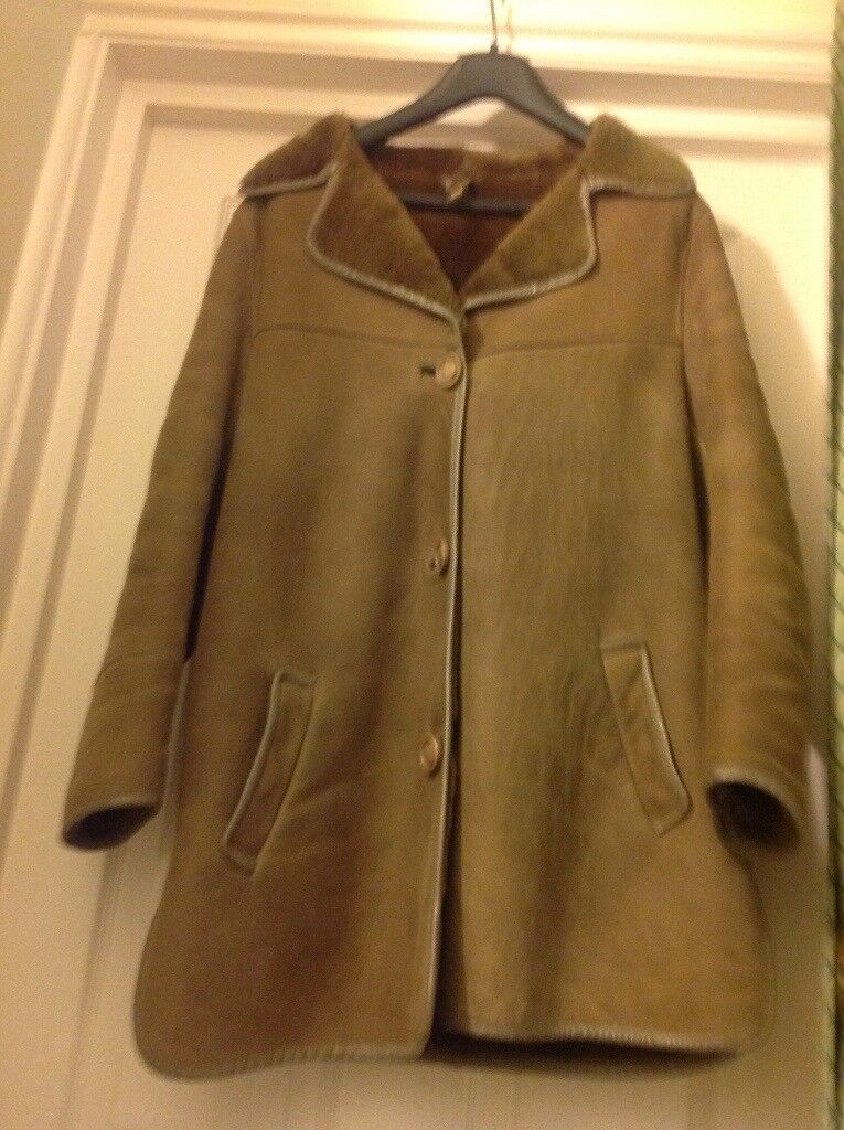 Woman's sheepskin coat size 12